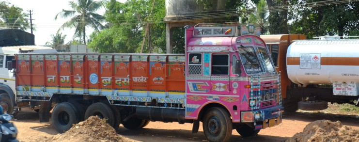 Truck in New Mangalore, India